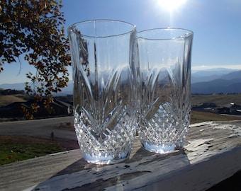 "Cristal de Flandre 'Salzburg' Lead Crystal Highball Glasses, 3"" Diameter x 5-1/2"" Tall, Set of 2"