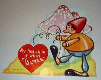 My Heart's in Whirl Vintage 1930s Valentine