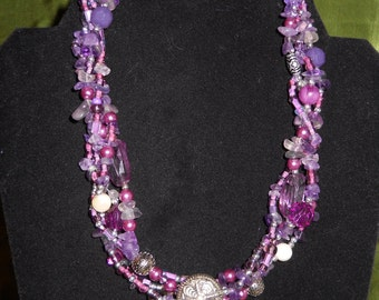 Passion for Purple necklace & earrings