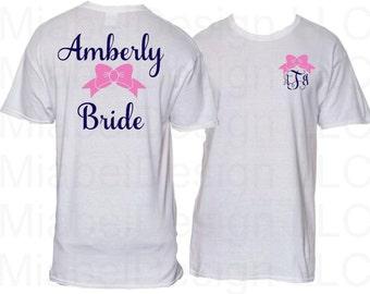 1 Adult Short Sleeve Tshirt Personalized Monogram Gift, Christmas Gift, Custom Tshirt, Personalized Gift, Monogram Tshirt, Monogram Gifts