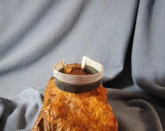 2 Strand 5mm Metal Mesh Woven Bracelet
