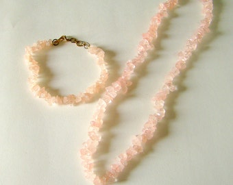 """Shop """"rose quartz crystal"""" in Jewelry Sets"""