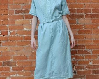 L'Aiglon Pure Silk Vintage 1950s Shirtwaist Dress