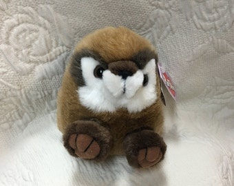 Scooter the Chipmunk, Puffkins Chipmunk, Chipmunk, Puffkins Plush, Beanie Plush Chipmunk, Swibco, Puffkins Collection