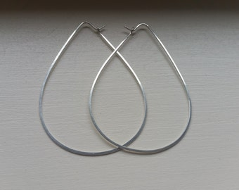 Hoop Earrings, Hoops, Gold Hoop Earrings, Tear Drop Earrings, Large Hoop Earrings, Hammered Hoops, Big Hoop Earrings, Tear Drop Hoops, Drop