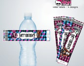 INSTANT DOWNLOAD - Monster High Water Bottle Labels - Party Favors - Monster High Birthday Party - Monster High Water Labels - DIY Birthday