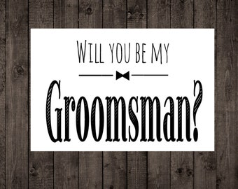 Groomsmen icing cards will you be my groomsman printable wedding card groomsman best man invitation wedding junglespirit Image collections