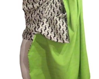 Ring Sling Blossom, Reversible sling Green and Mustach, Ring sling reversible cotton, Baby Carrier Sling, Baby Wrap Sling