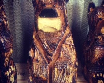 Chainsaw Carving Brown Desk Bear