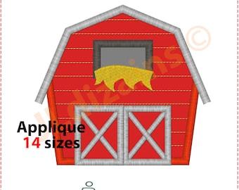 Barn Applique Design. Barn embroidery design. Embroidery design barn. Applique barn. Farmhouse embroidery. Machine embroidery design.