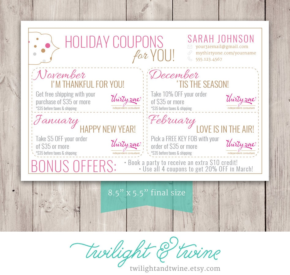 thirty one coupon sheets custom pdf printable thirty one 128270zoom