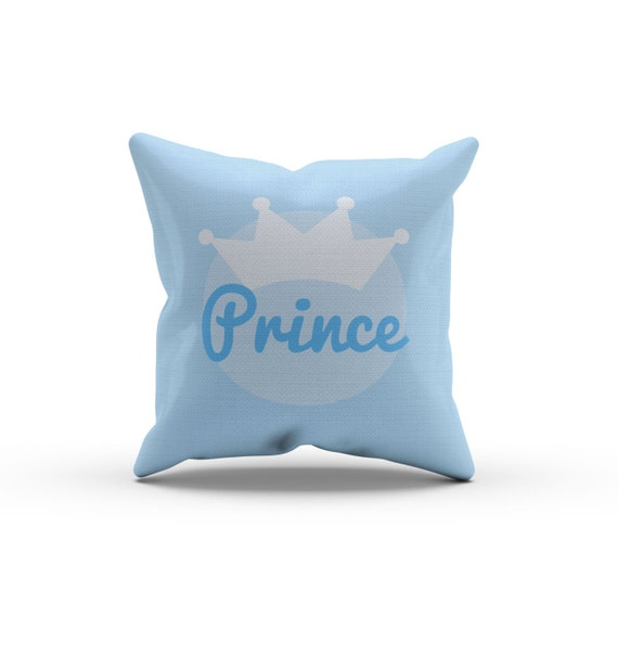 Blue Prince Crown Pillow, Nursery Pillow,Throw Pillow, Kids Throw Pillow, Children s Prince ...