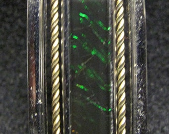 Korite Ammolite Sterling Silver Green Pendant