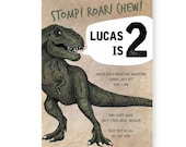 Dinosaur Adventure Party Theme Invitations (Custom Digital Download)