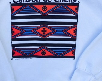 Navajo Chief's Blanket Sweatshirt - Vintage Canyon de Chelly Shirt - Arizona Souvenir - National Monument Park - Apache - Southwestern Print