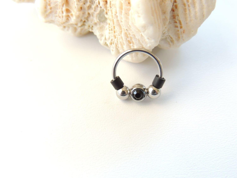 16g captive bead septum nose ring horseshoe piercing septum