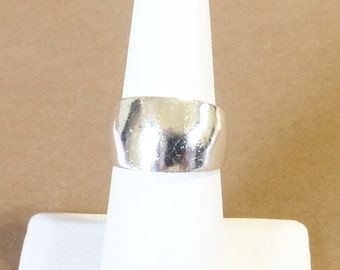Size 6.5 Sterling Silver Wide Band Ring