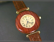 Wooden watch, Wood watch, Womens wood watch, Brown wood watch, Wooden watch women, Watch leather, Swiss quartz, Handmade, Wedding gifts wood