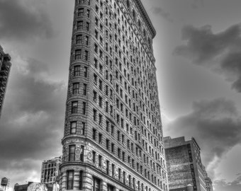 The Flatiron building, New York City, black and white, NYC photography, nyc wall art, fine art photography, nyc photos, urban decor