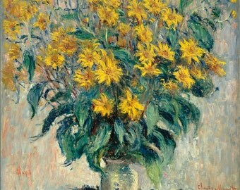 Jerusalem Artichokes by Claude Monet, in various sizes, Giclee Canvas Print