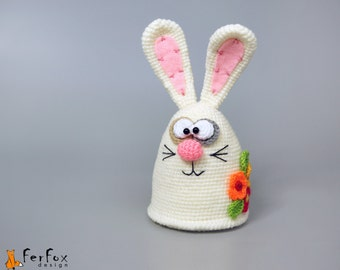 Stuffed bunny, plush March hare, woodland plush rabbit, home decor, bunny rabbit, spring decor