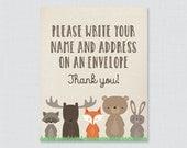 Woodland Address an Envel...