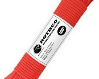 PARACORD - Red, 100 Feet Nylon 7-Strand, Rothco, Made in USA