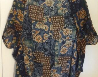 Remade Extra-Lightweight Faux-Kimono