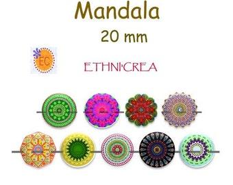 Board of 88 round 20 mm Mandala 1 downloadable digital images