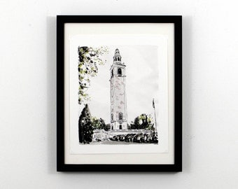 Richmond Va Art - The Carillon at Byrd Park Print