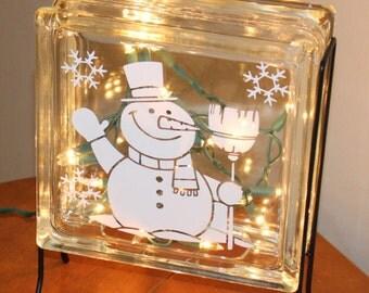 Believe Nativity Scene Vinyl Decal Christmas Glass Block - Nativity vinyl decal for glass block light