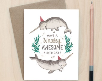 Whaley Awesome Birthday - A2 Greeting Card