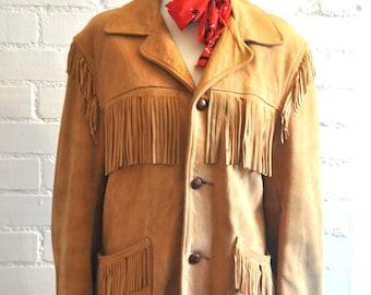 Vintage 1960's Leather Fringe Jacket