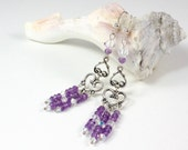 Amethyst Chandelier Earrings, Silver Chandelier Earrings, Purple Dangle Earrings, February Birthstone Jewelry, Solana Kai Designs, Portland