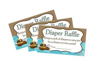 NOAH'S ARK Diaper Raffle Invite INSERT Baby Shower - Instant Download