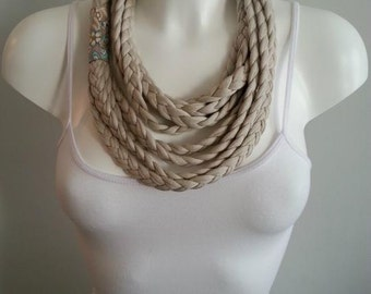 T-shirt necklace, t-shirt scarf