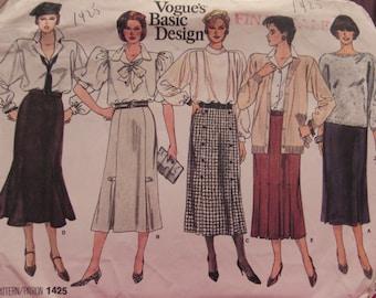 Vintage Pattern: Vogue's Basic Design - 1425, Size 12