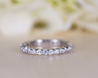 Diamond Eternity Ring, Diamond Wedding Band, Dainty, Diamond Band Ring, Natural Diamond, Diamond Eternity Band, Anniversary Ring