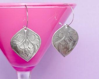 Tribal Earrings, Silver Earrings Large Teardrop Earrings Southwest Earrings Bohemian Jewelry Tribal Jewelry Bohemian Earrings Gypsy Earrings