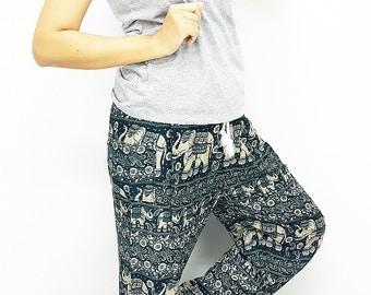 SALE!!!FROM 15.99 Elephant Pants Super Comfy plussize Green Hippie/BOHO/trouser/Tribal/Aladdin/Genie/Yoga/Meditation/RelaxPants CasualSummer