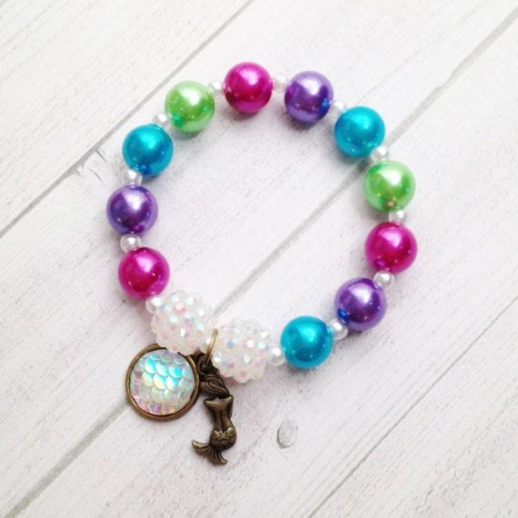 8 ariel mermaid scale the sea charm bracelet
