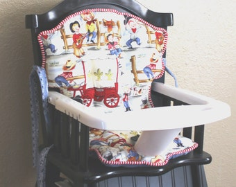 Eddie Bauer Lil Cowpokes & Cowgirl High Chair Pads Reserved for Nicole