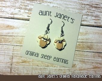 Aunt Janet's Handmade Original Sheep Earrings
