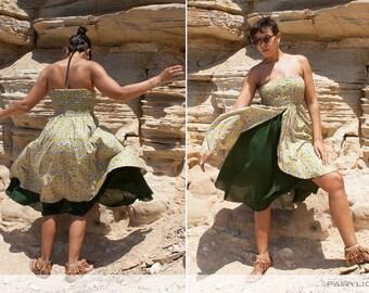 Double layered maxi gypsy dress / long skirt - Ipotx (0058)
