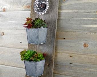 Vertical Plant Hanging, Removable Pots, Garden Art, Patio Planter, Succulent Flower Wall Planter, Mothers Day Gift, Flower Planter