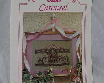 Teresa Wentzler's Dreamscape Carousel Leaflet OOP Just Cross Stitch