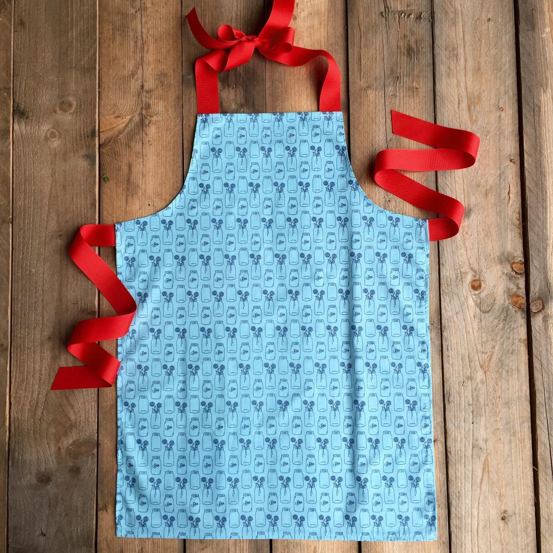 Blue apron junior editor - Tween Girl Gift Handmade Apron Tween Apron Canning Jars Tween Birthday Gift Childrens Aprons Lightweight Apron Apron For Kids