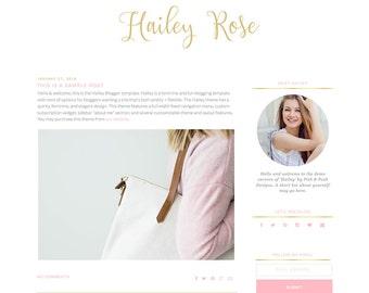 """Responsive Blogger Template """"Hailey"""" - Feminine Blogger Theme"""