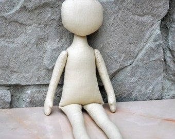 "Blank doll body-12""  blank rag doll body, the body of the doll made of cloth"