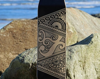 "SP8BOARDS ""Drop"" - longboard deck with a drop for more stable downhill or cruising"
